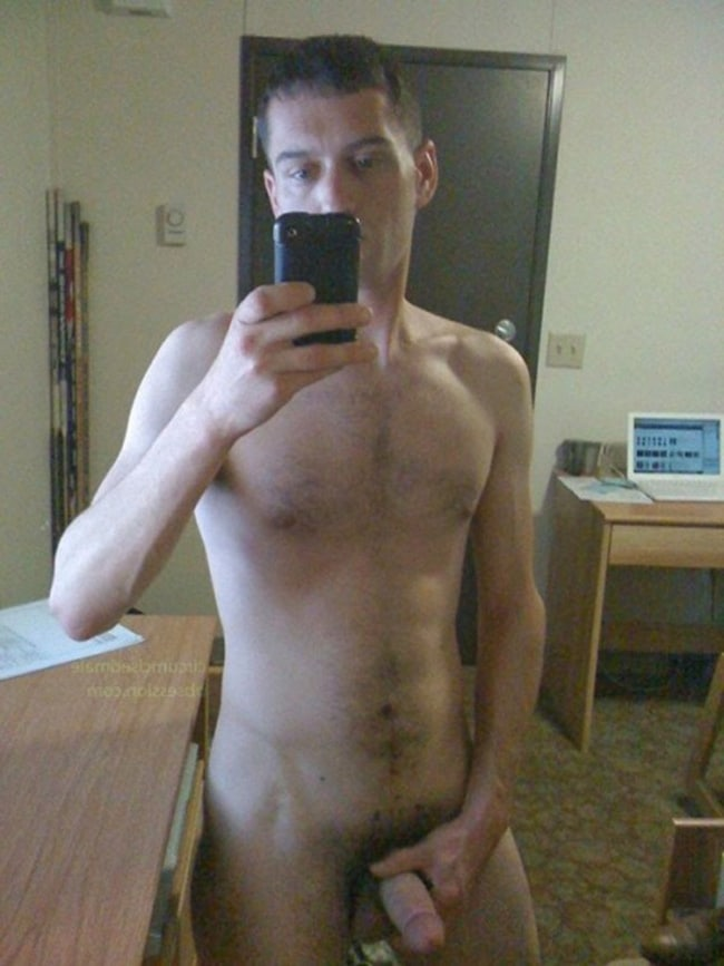 Man Taking Nude Selfies