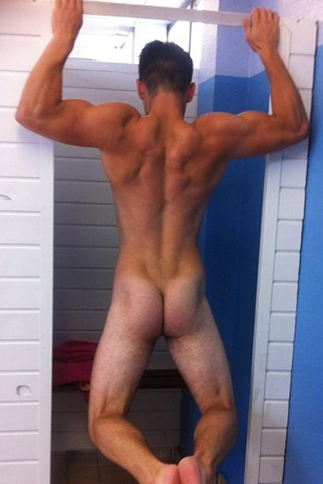 Nude Boy From Behind